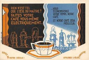 Advertising Postcard - Old Vintage Antique  Faites Votre Café Vous Meme