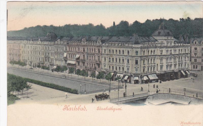 KARLSBAD, Czech Republic, 1900-1910's; Elisabethquai