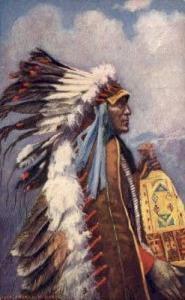 Chief  Stranger Horse Tucks Indian, Indians, Postcard Post Cards  Chief  Stra...