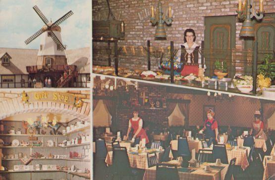 Swedish Mill Restaurant Kitchen Smorgasborg Kingsburg Fresno County Postcard