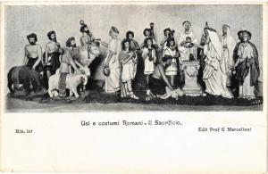 CPA ROMA Usi e costumi Romani-Il Sacrificio. ITALY (551892)