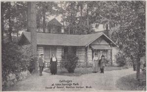 c1920s BENTON HARBOR House of David Michigan Mich Postcard COTTAGES Eden Springs