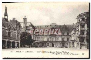 Old Postcard The Interior Court Chateau Blois frontage Gaston d'Orleans