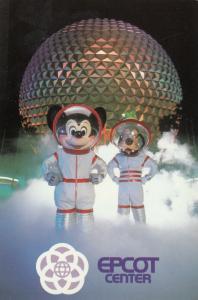 EPCOT Center, Walt Disney World, Florida, 1980s, Mickey & Goofy, Time Travelers