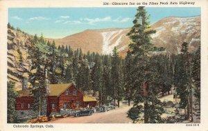 Glencove Inn, Pikes Peak Auto Highway, Colorado Springs c1940s Vintage Postcard
