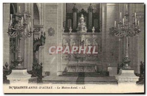 Postcard Old Organ of St. Anne & # 39Auray The high altar
