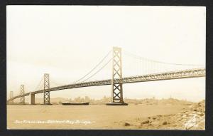 Shore View Oakland Bay Bridge San Francisco California Real Photo Unused c1930s