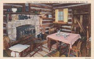 Illinois Lincoln's New Salem Interior Onstot's Residence New Salem State Park...