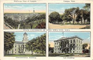 Iowa City Iowa University-Administration & Law Bldgs-Campus/Aerial Views~1920s