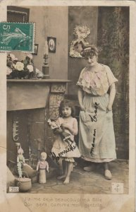 RP: Christmas ; Mother & Child & Toys, 1900-10s