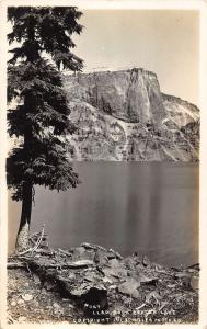 Crater Lake Oregon Llao Rock Scenic Real Photo Antique Postcard K91187