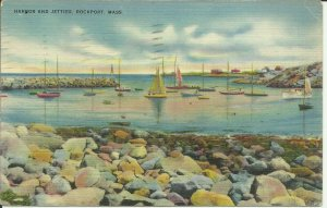 Rockport, Mass., Harbor And Jetties