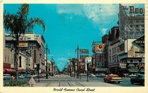 Autos Canal Street 1963 New Orleans Louisiana Postcard Curt Specialties 2018