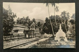 Mint Vintage Temple of the Holy Tooth Kandy Ceylon Real Photo Postcard RPPC