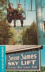CAVE CITY, Kentucky, 1950-1960s; Jesse James Sky Lift