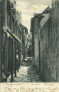 curacao, D.W.I., WILLEMSTAD, Moordenaarstraat (1905)