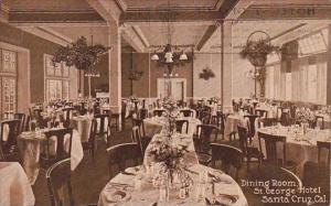 Dining Room Saint George Hotel Santa Cruz California