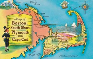 Massachusetts Map Of Boston South Shore Plymouth and Cape Cod