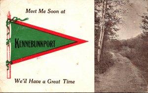 Maine Kennebunkport Meet Me Soon Pennant Series 1912