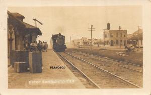 SAN BENITO, TEXAS TRAIN DEPOT EARLY 1900'S RPPC REAL PHOTO POSTCARD