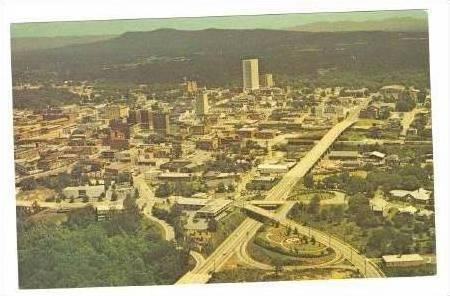 Aerial View of Business Section, Greenville, SC, 40-60s