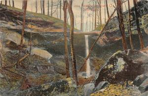 F63/ Newcomerstown Ohio Postcard 1908 Devil's Den Cave Waterfall