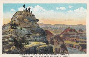 GRAND CANYON, Arizona, 1900-1910's; Bright Angel Point, North Rim