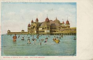 Salt Lake City Utah 1903 Bathers Bathing Pavilion Beach