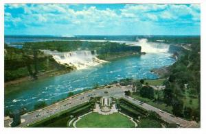 General view showing American Falls and Canadian Horseshore Falls, from Oneid...