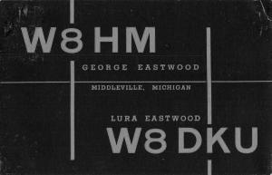Middleville Michigan W8HM Radio Station Advert Antique Postcard K54507