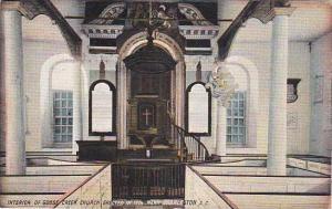South Carolina Charleston Interior Of Goose Creek Church 1908
