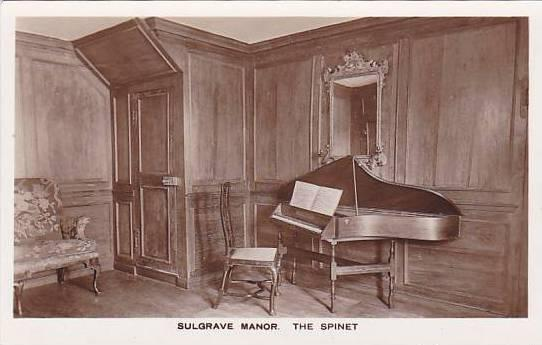 RP; Interior, The Spinet, Sulgrave Manor, Northamptonshire, England, United K...