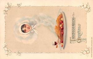 Thanksgiving Postcard Old Vintage Antique Post Card Artist Samuel Schmucker