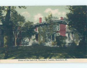 Divided-Back HISTORIC HOME Rockford Illinois IL W4931