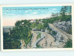 Unused W-Border PANORAMIC VIEW Chattanooga Tennessee TN i0548