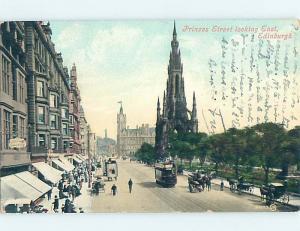 Divided-Back SHOPS ON PRINCESS STREET Edinburgh Scotland Uk hn6388