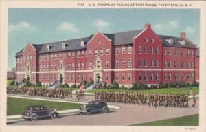 Military United States Troops On Parade At Fort Bragg Fayetteville North Caro...