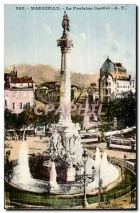 Marseille - La Fontaine cantini - Old Postcard
