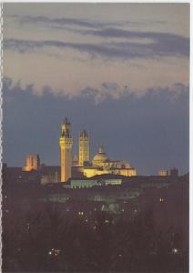 Siena, Notturno, by night, unused card