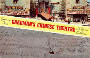 Grauman's Chinese Theatre, Hollywood California, Greetings