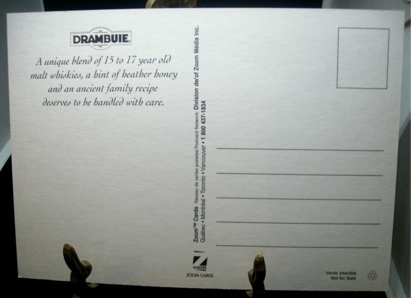 Vintage Collectible Postcard For Drambuie Liqueur Liquor Tragedy