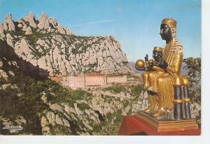 Postal 047575 : Montserrat. Barcelona. Nuestra Se?ra de Montserrat y el Monas...