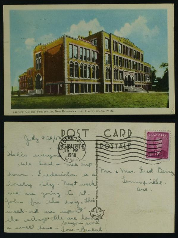 Teacher's College-Fredericton NB 1950