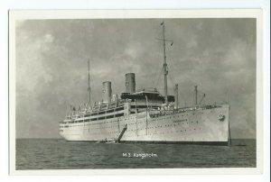 Postcard M.S. Kungsholm Swedish-American Liner VPC7.