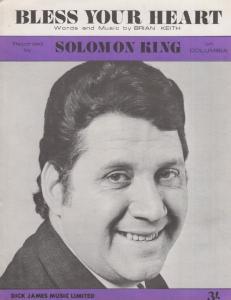 Bless Your Heart Solomon King 1960s Sheet Music