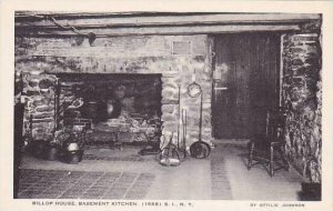 New York Staten Island The Billop House Basment Kitchen 1668 Artvue