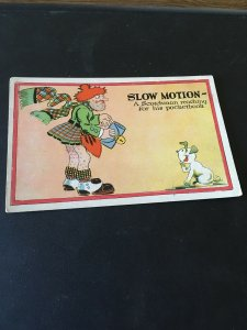 Vintage Postcard - Slow Motion, A Scotchman Reaching for His Pocketbook, Humor