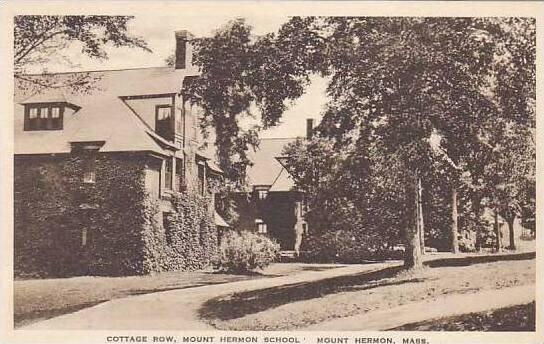 Massachusetts Mount Herman School And Cottage Row Albertype