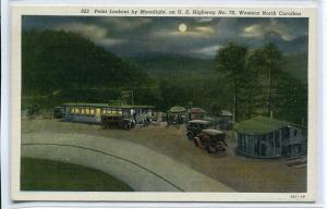 Point Landing Moonlight US Highway 70 Western North Carolina postcard