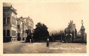RPPC ISTANBUL Dolmabahçe Sarayı Turkey 1953 Stamp Vintage Postcard